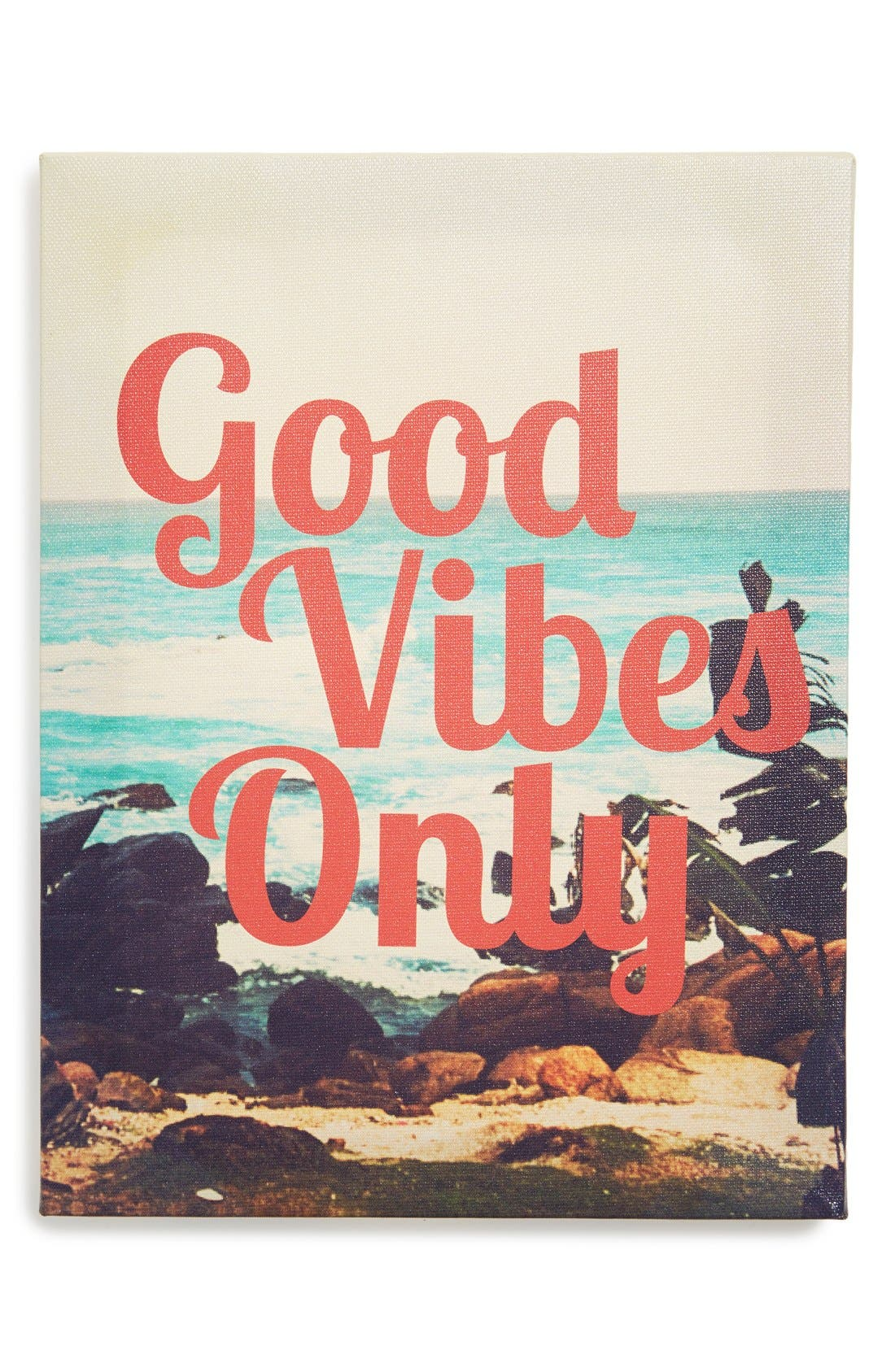 Alternate Image 1 Selected - Ankit 'Good Vibes Only' Wall Art