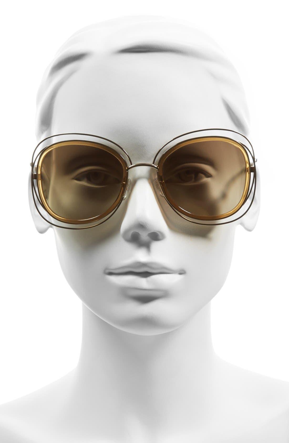 Alternate Image 2  - Chloé 'Carlina' 56mm Gradient Sunglasses