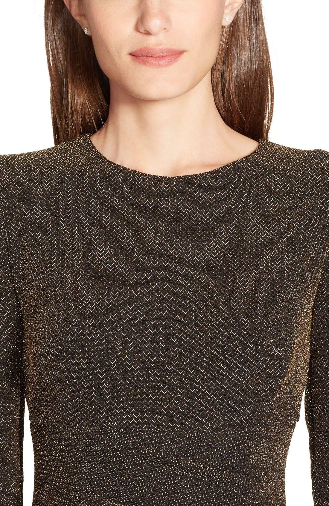 Alternate Image 3  - Lauren Ralph Lauren Metallic Gown (Regular & Petite)