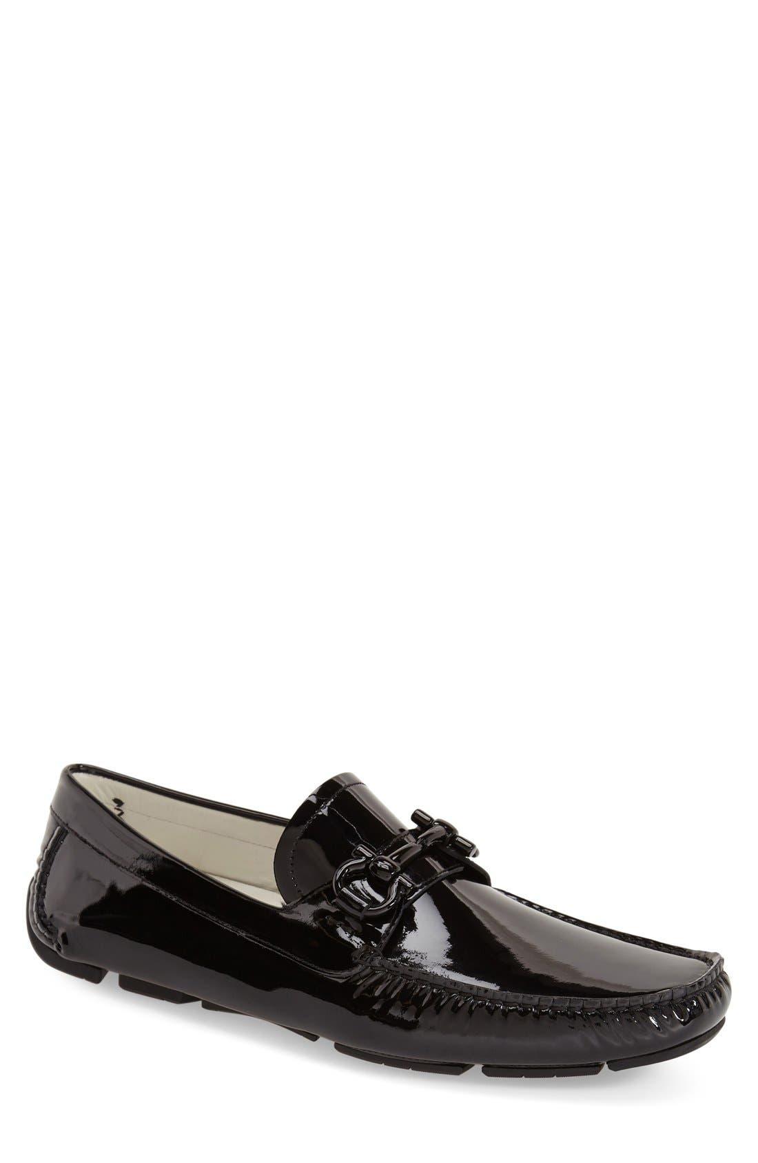 Alternate Image 1 Selected - Salvatore Ferragamo 'Parigi' Patent Leather Driving Shoe (Men)