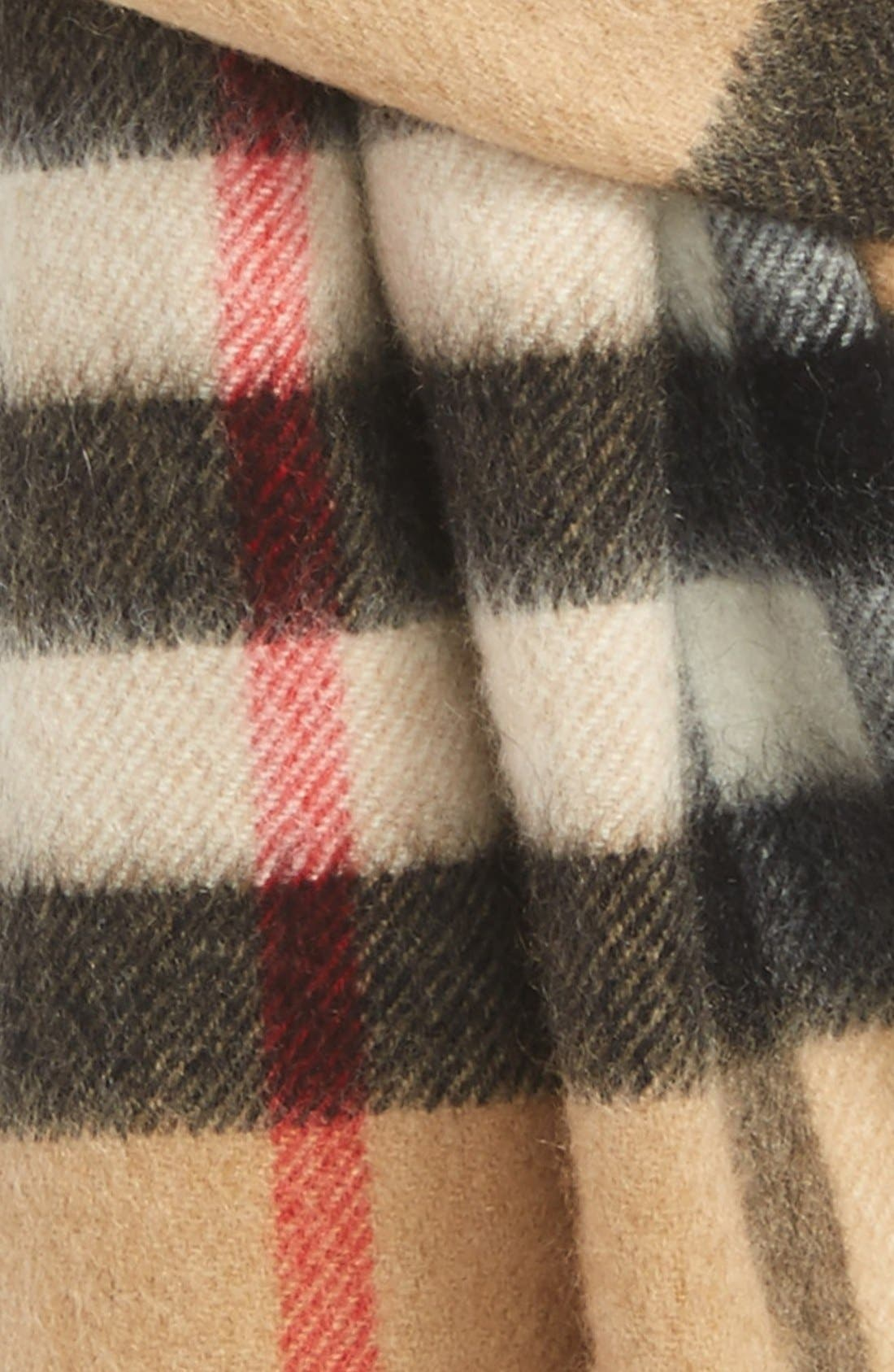 Heritage Check Cashmere Scarf,                             Alternate thumbnail 2, color,                             Classic Check