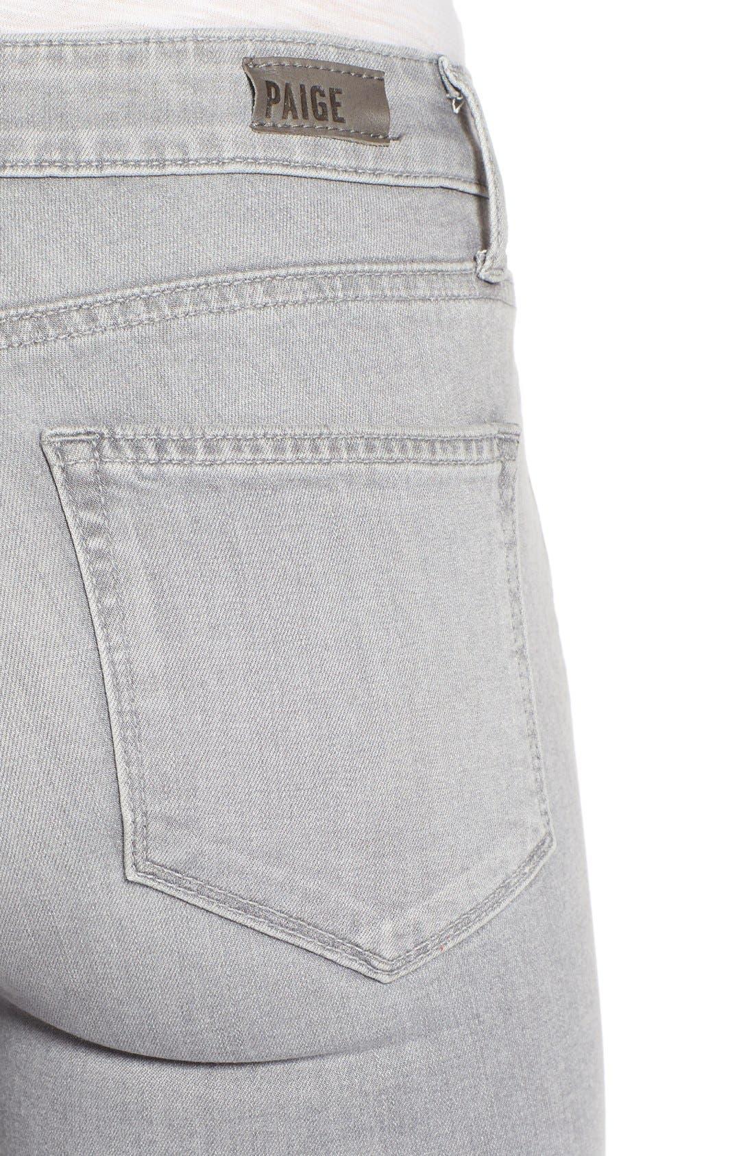 Alternate Image 5  - Paige Denim 'Verdugo' Ankle Skinny Jeans (Dove Grey)