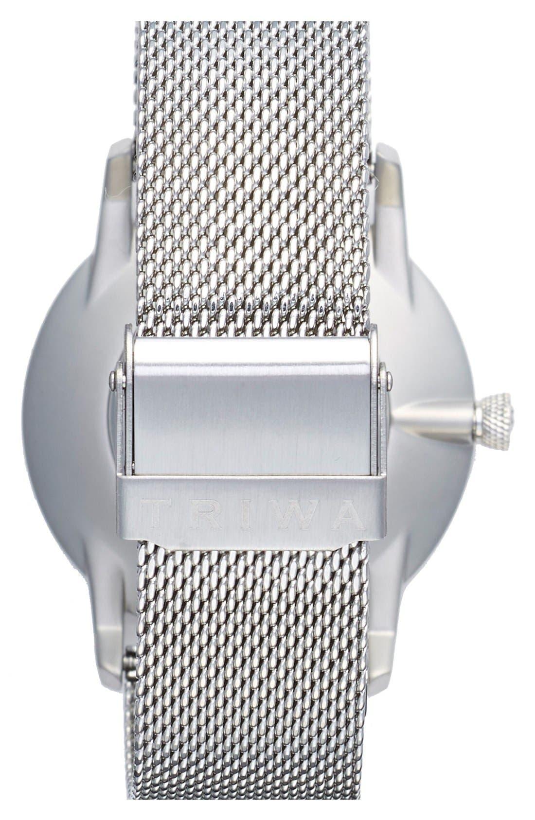 Dusk Klinga Mesh Strap Watch, 38mm,                             Alternate thumbnail 4, color,                             Silver/ Silver