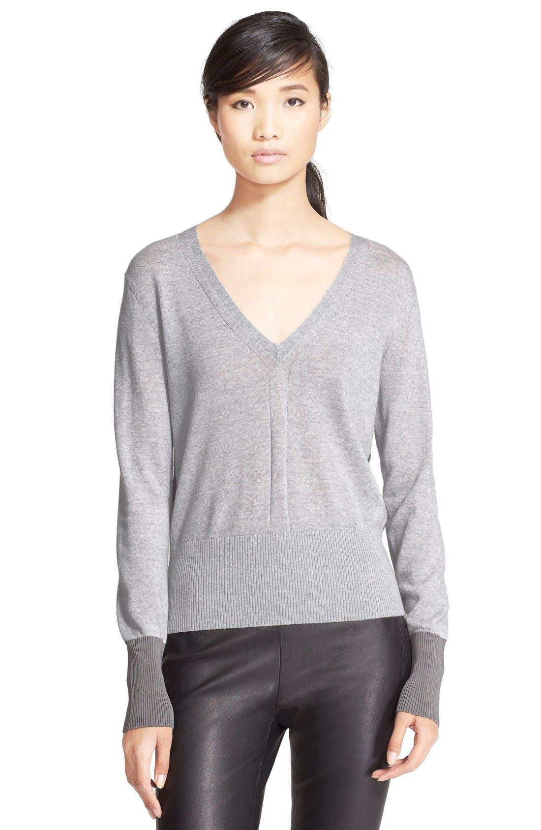 Alternate Image 1 Selected - rag & bone 'Jessica' Merino Wool V-Neck Sweater