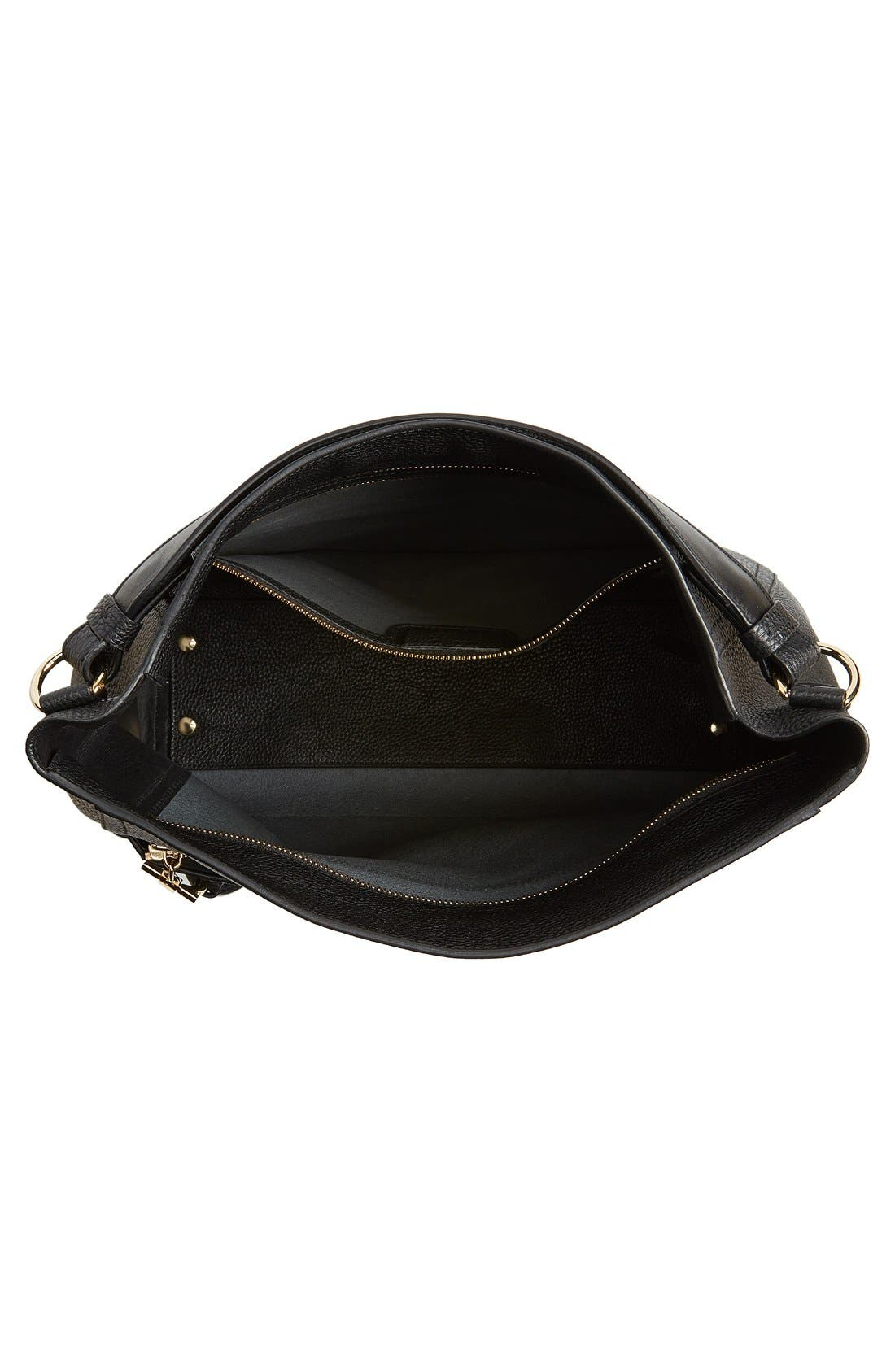 Alternate Image 4  - Salvatore Ferragamo Pebbled Leather Hobo