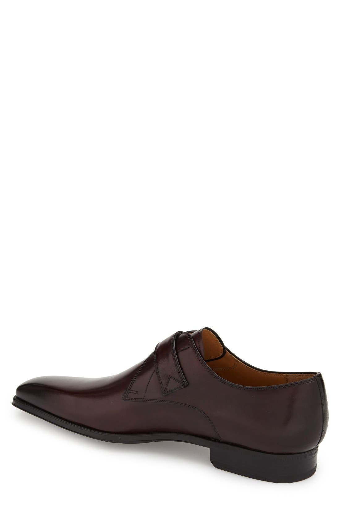 'Hugo' Monk Strap Slip-On,                             Alternate thumbnail 2, color,                             Burgundy