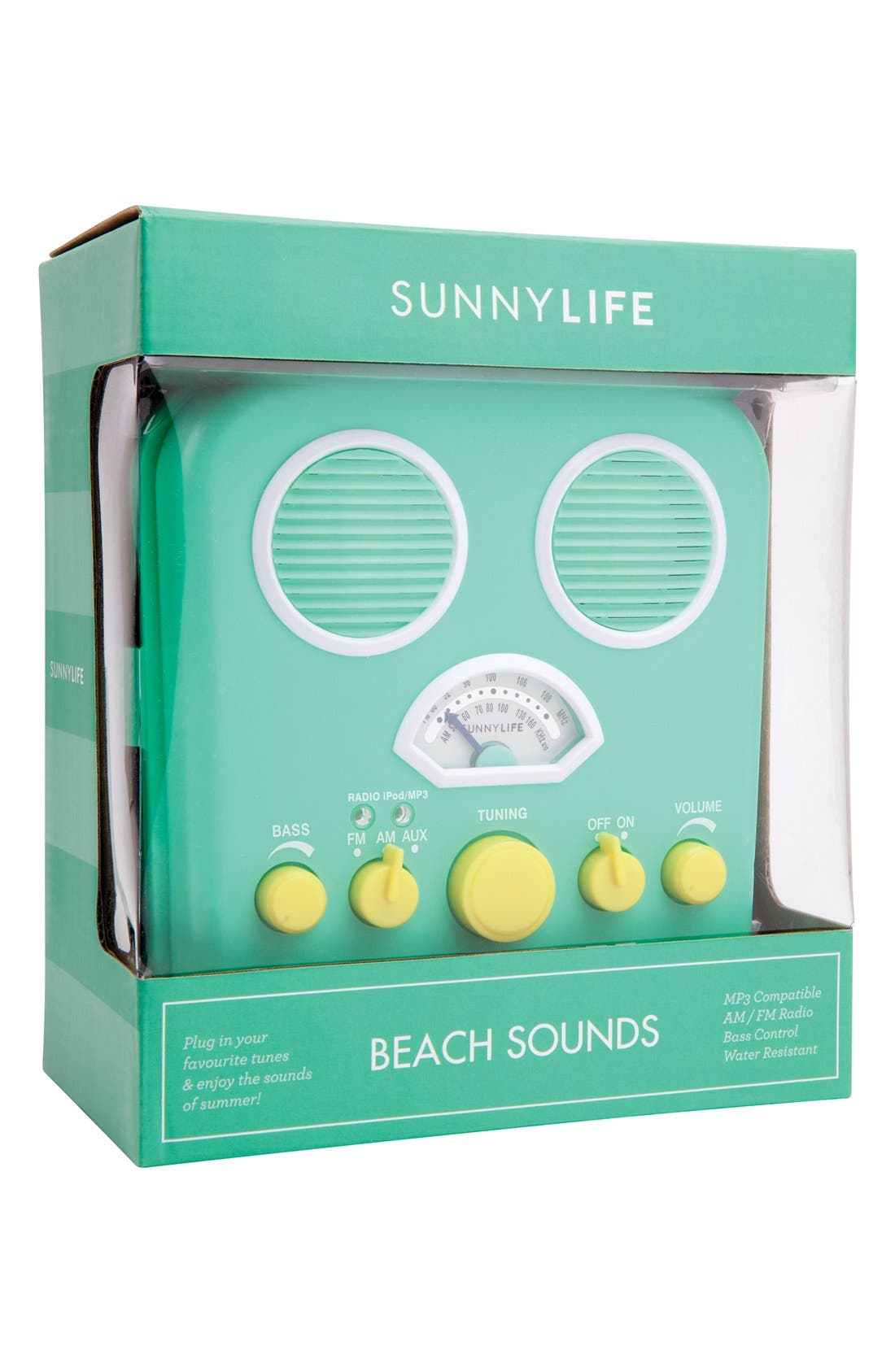 Main Image - Sunnylife 'Beach Sounds' Portable Water Resistant Speaker & Radio