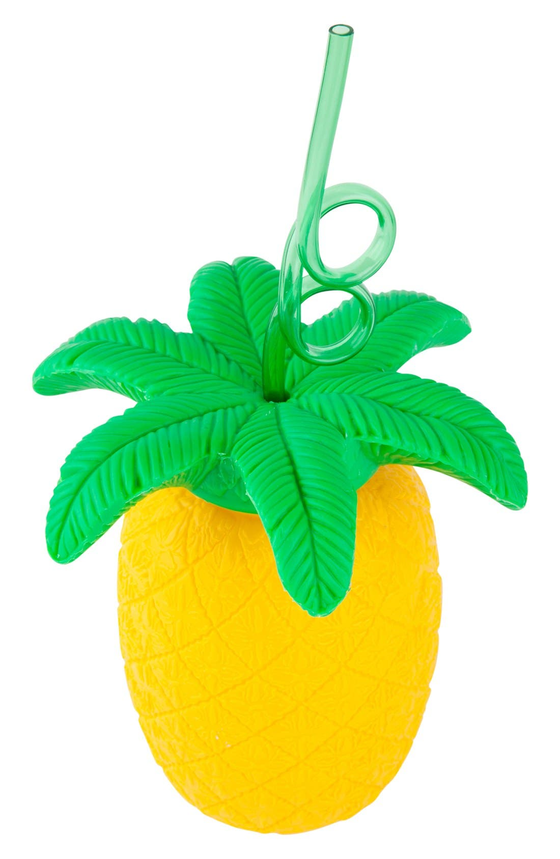 Alternate Image 2  - Sunnylife Pineapple Cup & Straw