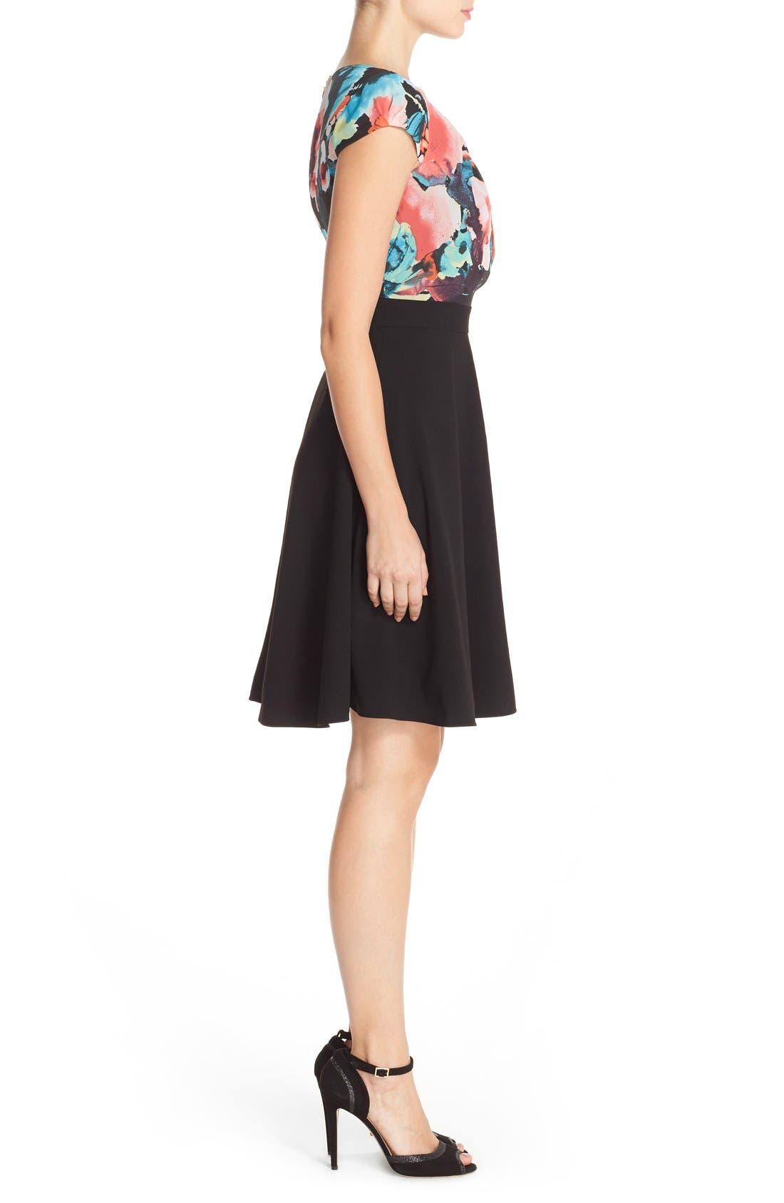Alternate Image 3  - Tahari Floral Print Fit & Flare Dress (Regular & Petite)