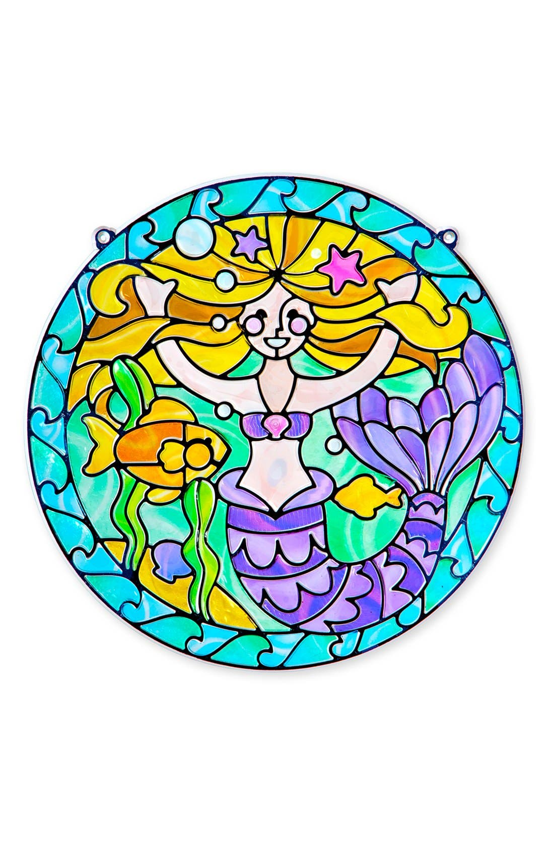 'Stained Glass Made Easy - Mermaid' Peel & Press Sticker Kit,                         Main,                         color, Blue