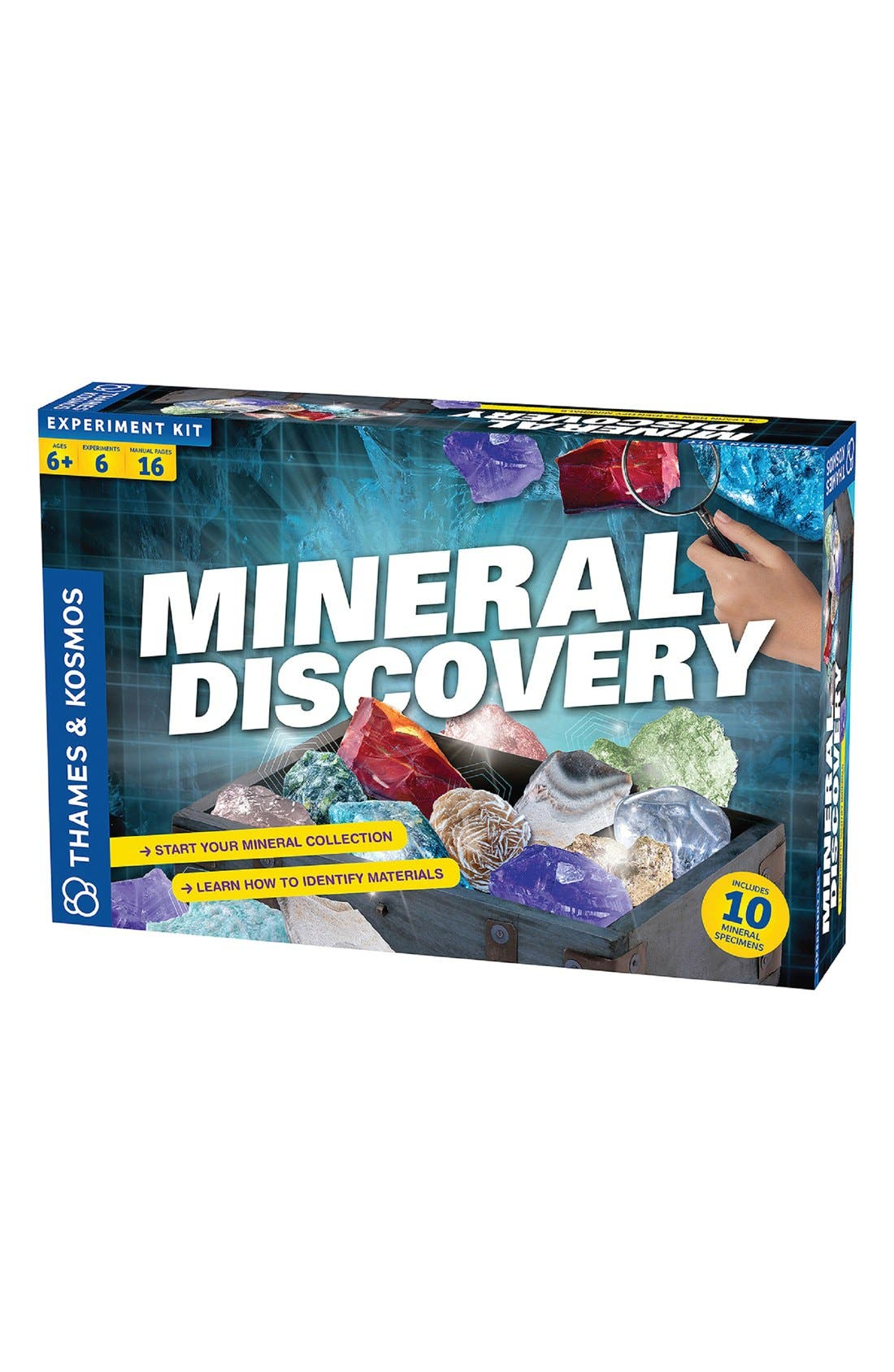 'Mineral Discovery' Experiment Kit,                         Main,                         color, Blue