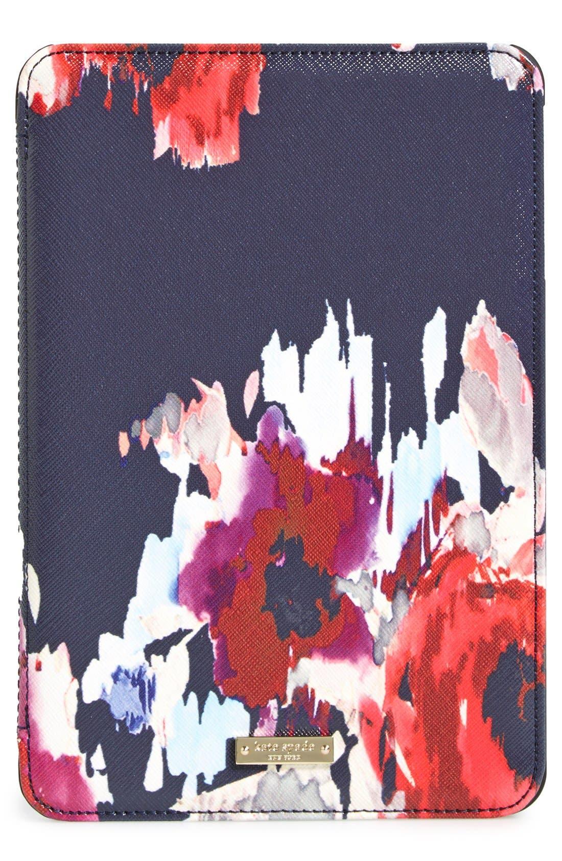 Alternate Image 1 Selected - kate spade new york 'hazy floral' iPad Mini hardcase folio