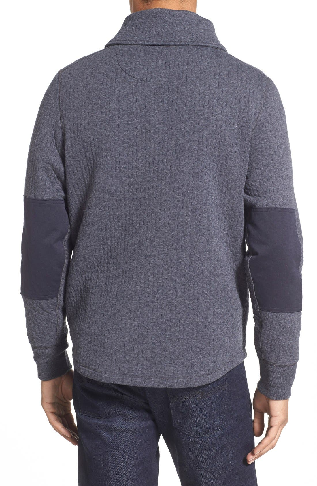 'Barnes' Shawl Collar Jersey Sweater,                             Alternate thumbnail 2, color,                             True Navy