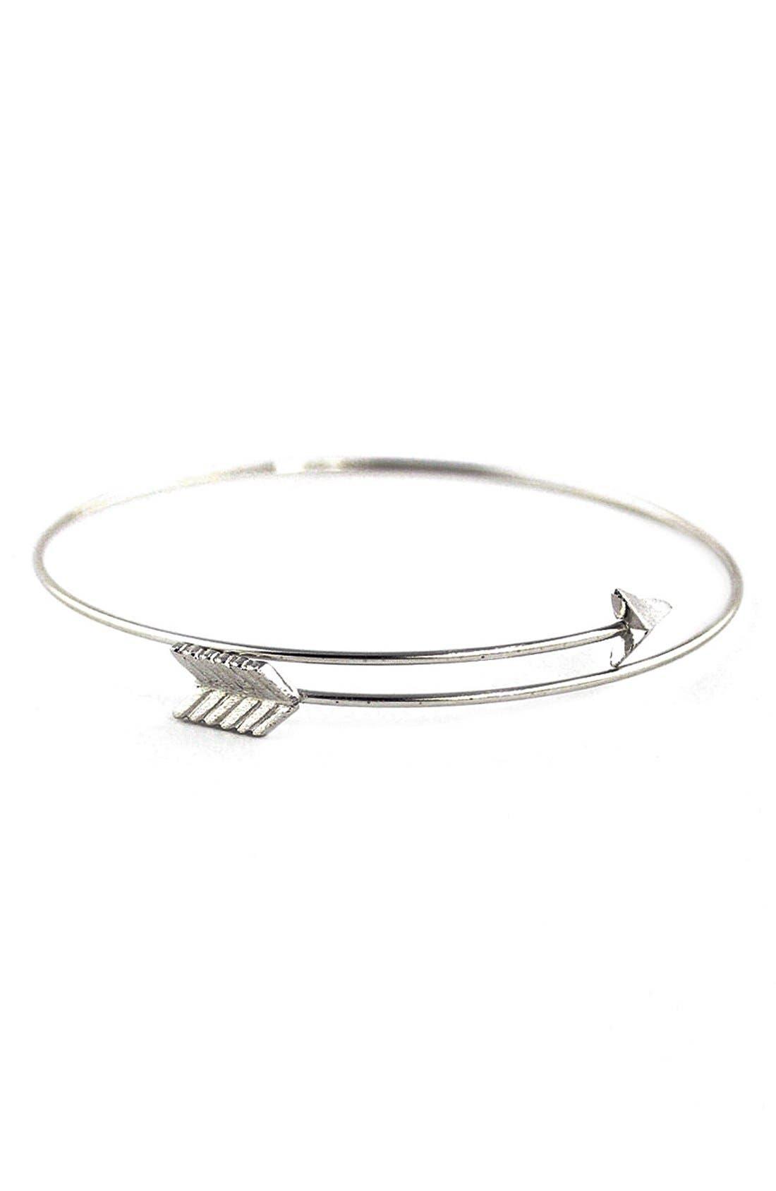 Split Arrow Cuff,                         Main,                         color, Silver