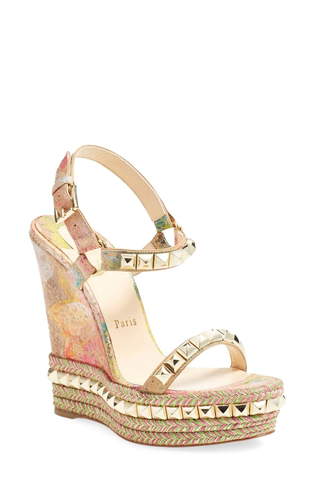 christian louboutin wedges nordstrom