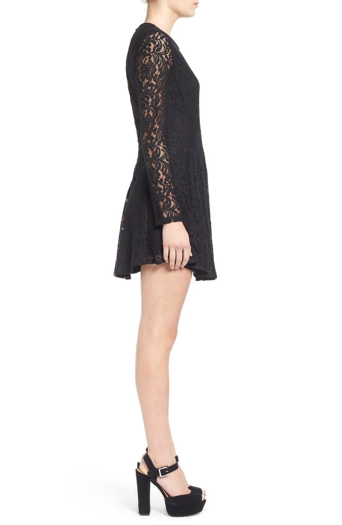 Alternate Image 3  - Lush Floral Lace Fit & Flare Dress