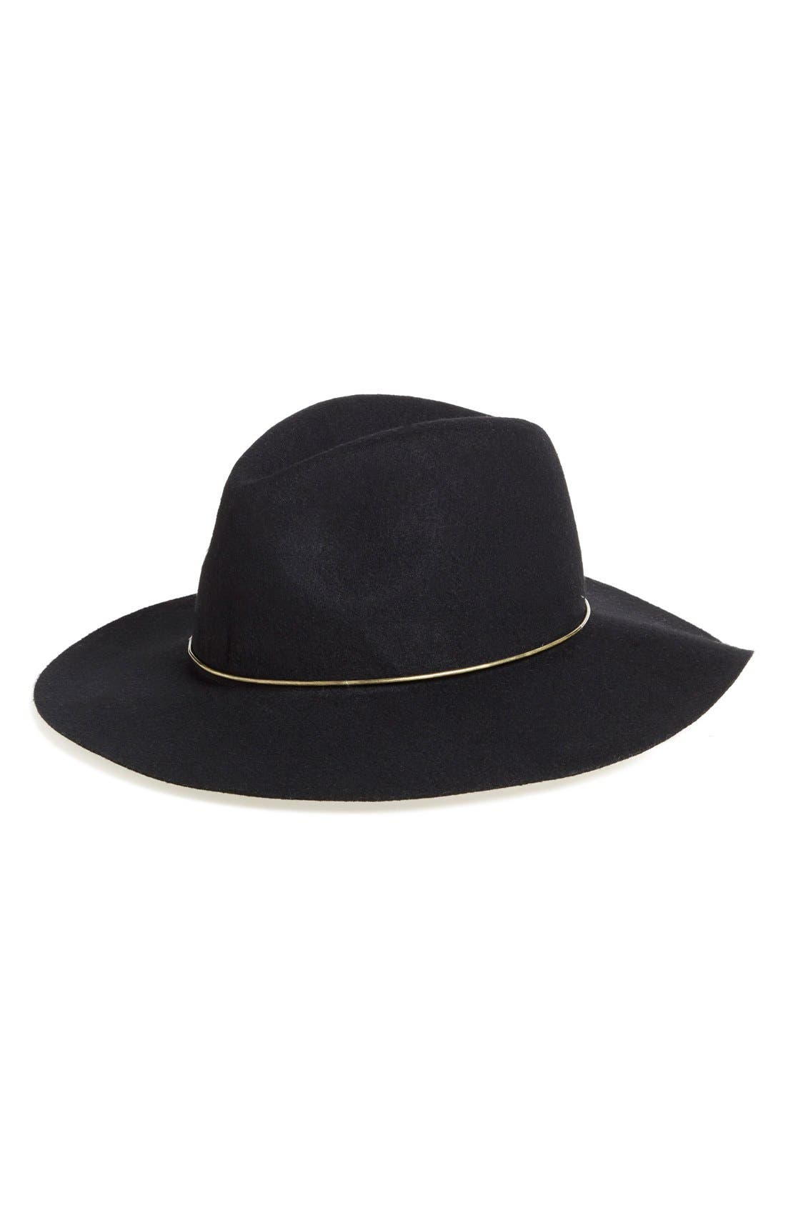 Main Image - BP. Metal Band Wide Brim Felted Wool Fedora