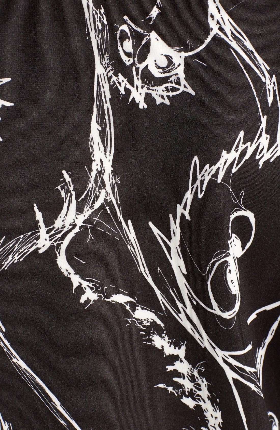 Alternate Image 5  - kensie Sketched Bird Print Sweatshirt