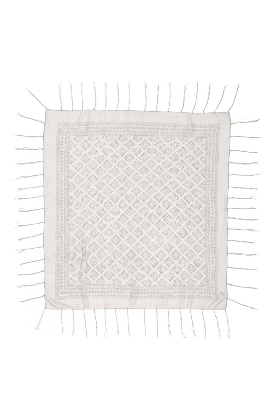 Alternate Image 2  - BP. Geo Diamond Fringe Square Scarf