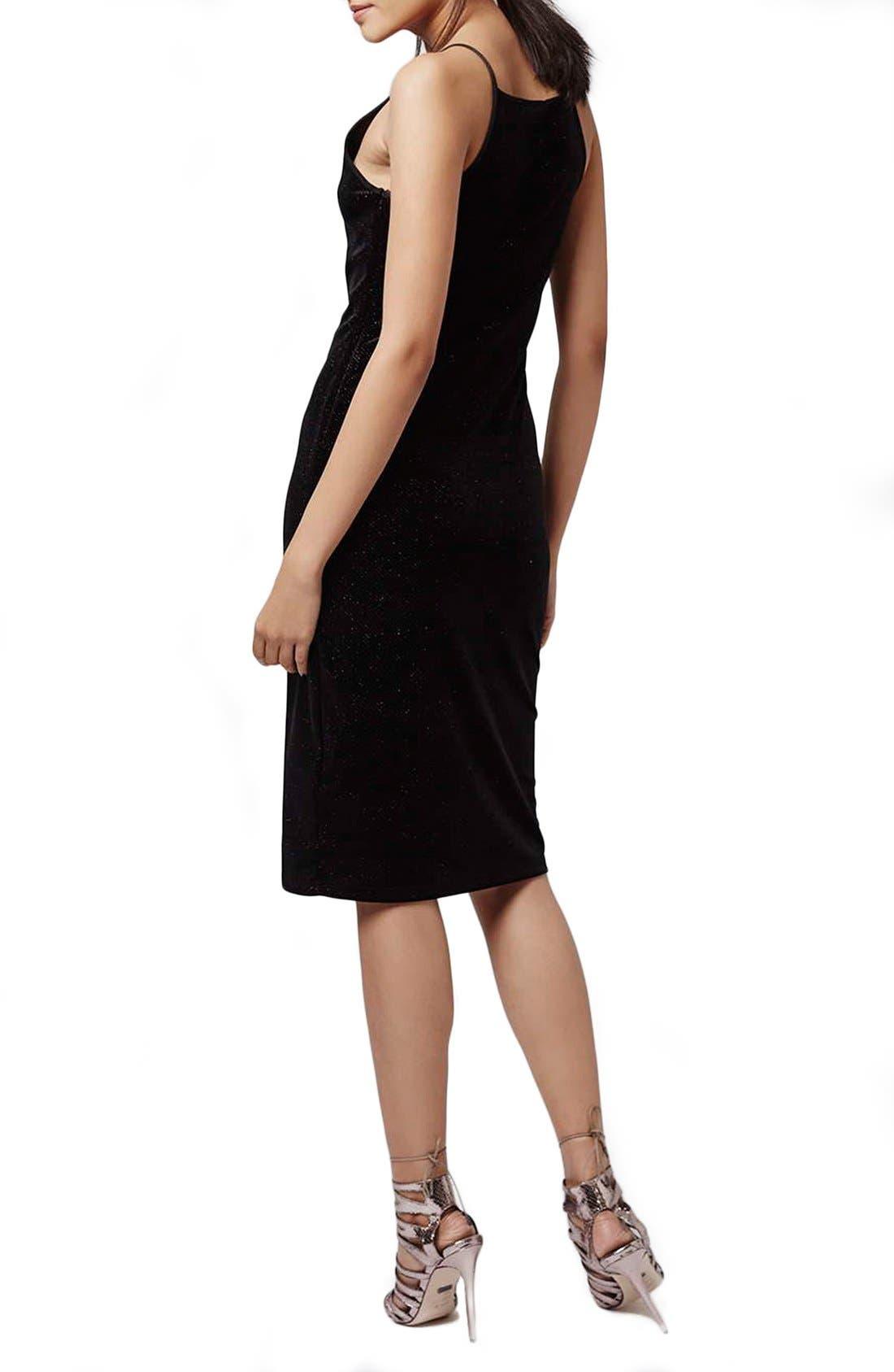 Alternate Image 2  - Topshop Velvet & Glitter Body-Con Midi Dress