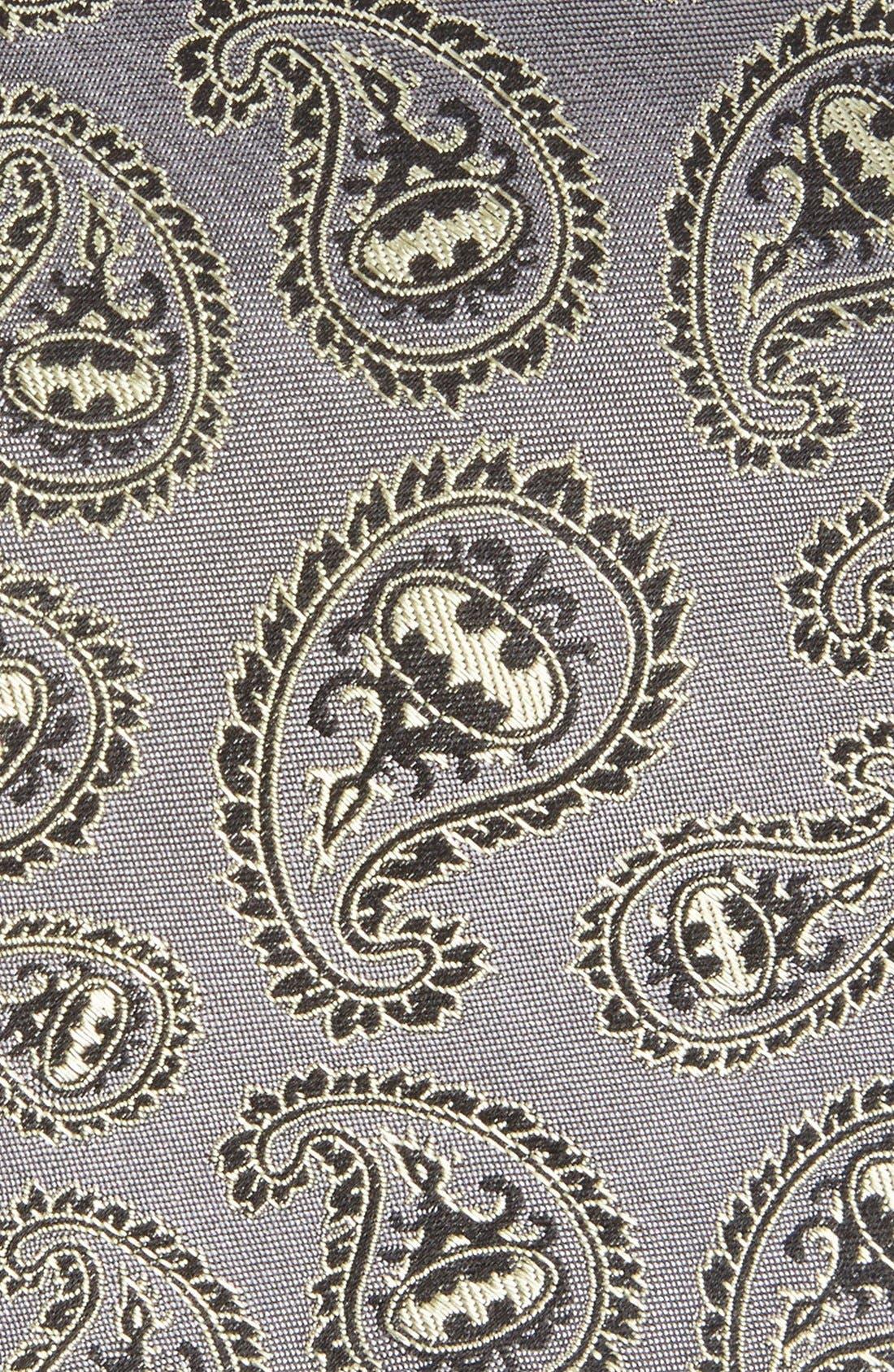'Batman' Paisley Silk Tie,                             Alternate thumbnail 2, color,                             Grey