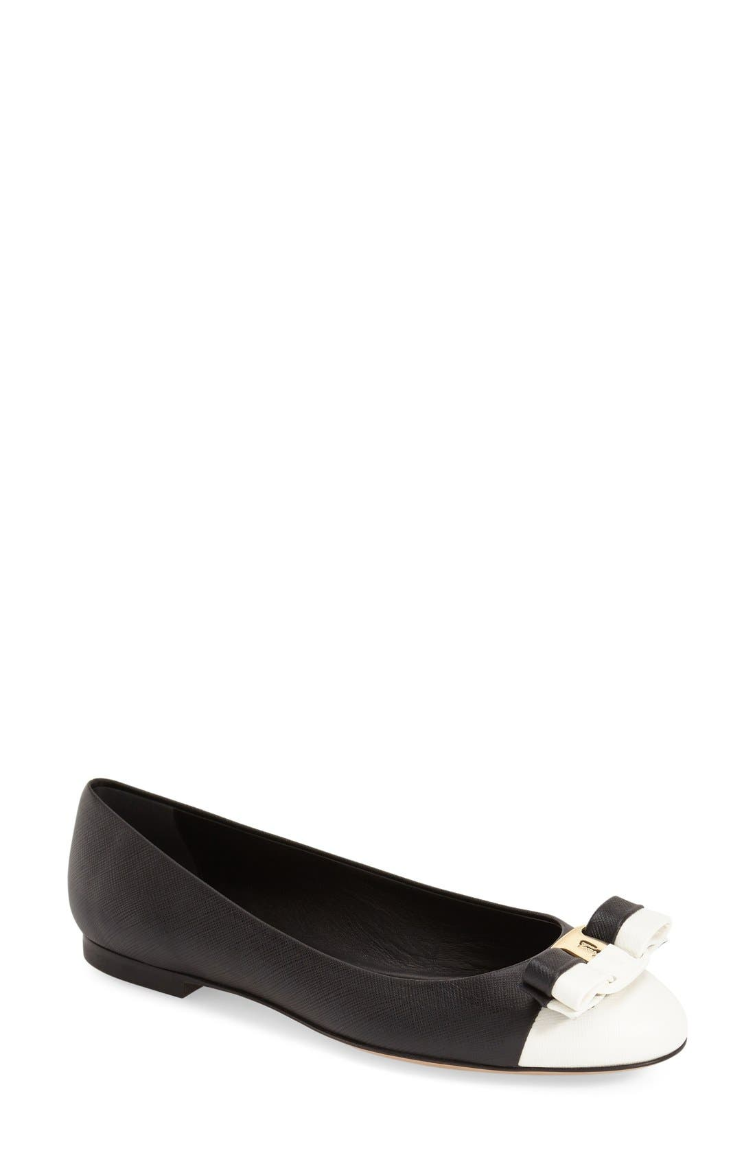 Alternate Image 1 Selected - Salvatore Ferragamo 'Varina' Flat (Women)