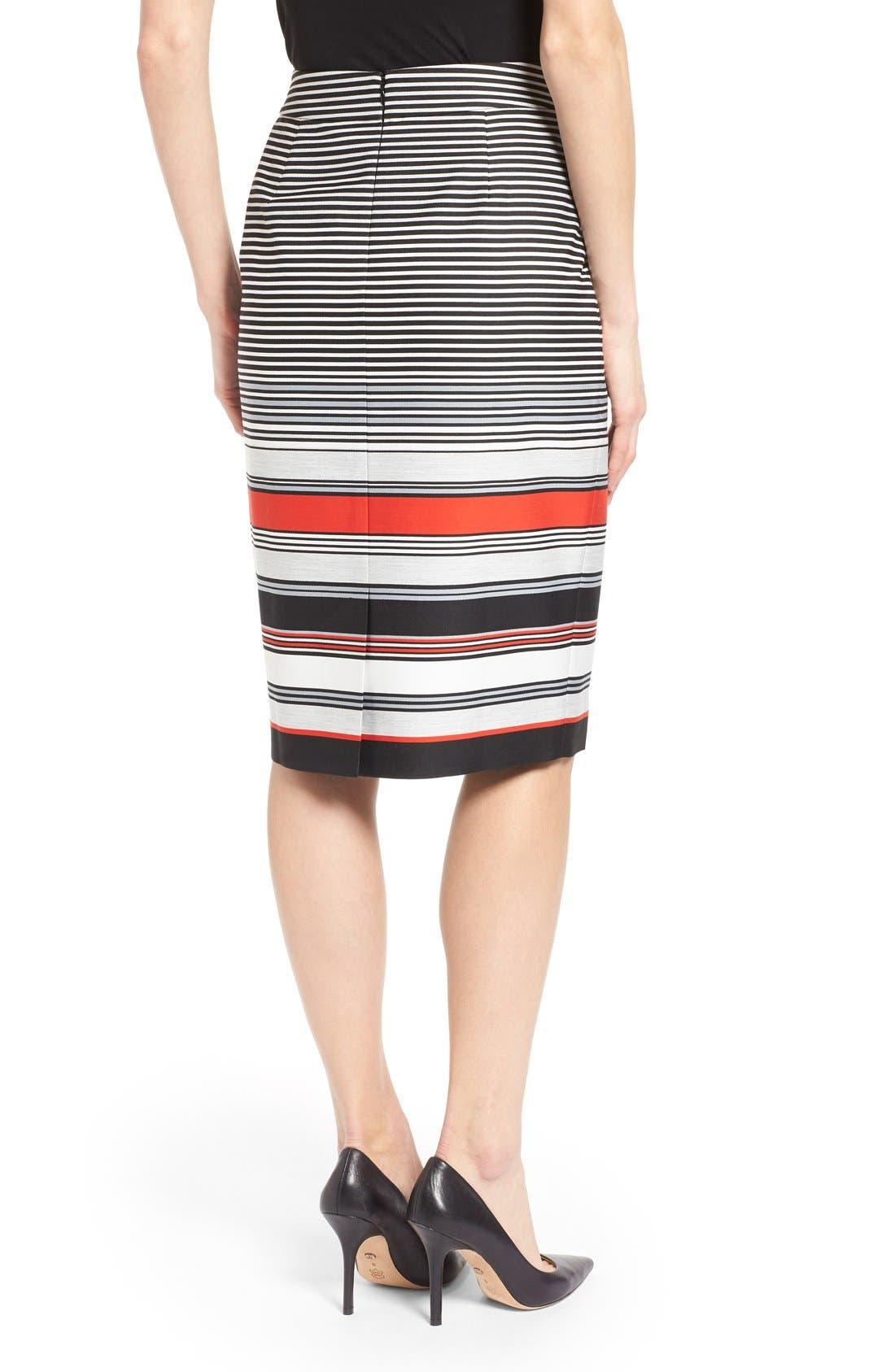 Alternate Image 2  - Classiques Entier® 'Gallery Stripe' Pencil Skirt (Regular & Petite)