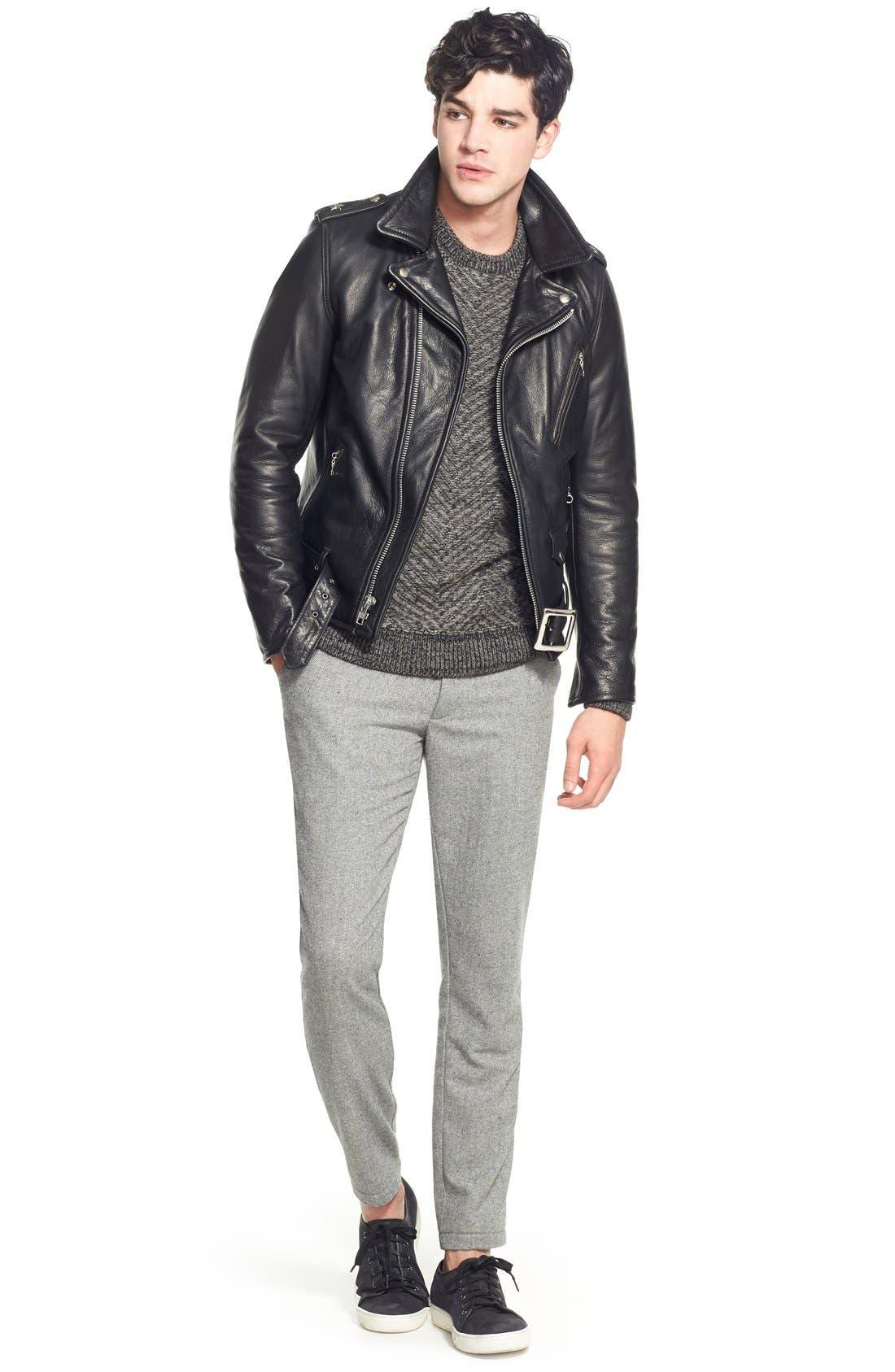 Alternate Image 9  - Schott NYC Perfecto Slim Fit Waxy Leather Moto Jacket