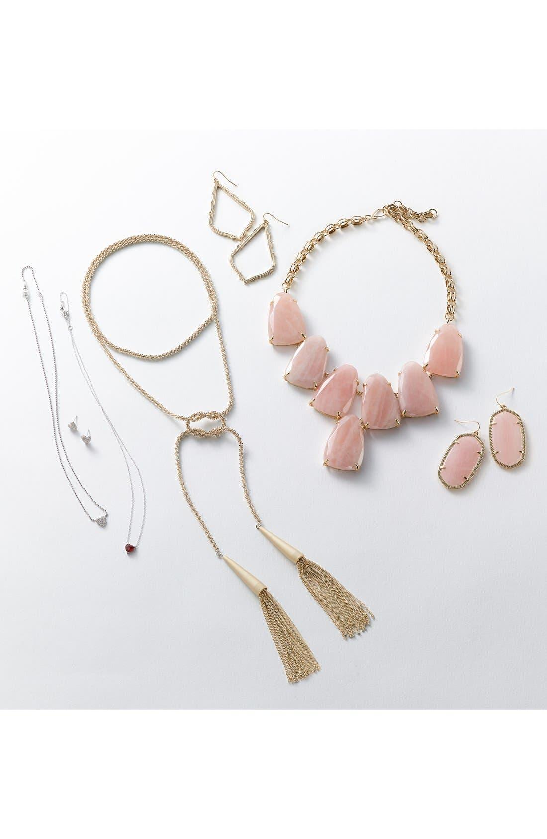 Alternate Image 2  - Nadri 'Valentine's Day' Heart Stud Earrings