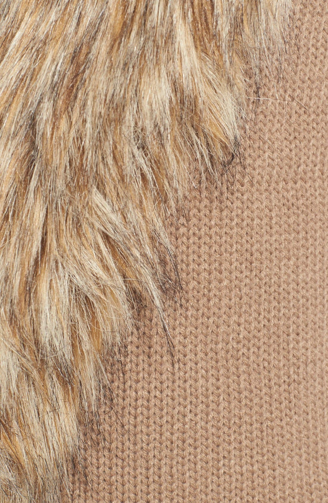 Alternate Image 5  - BB Dakota 'Sadi' Faux Fur Trim Knit Vest