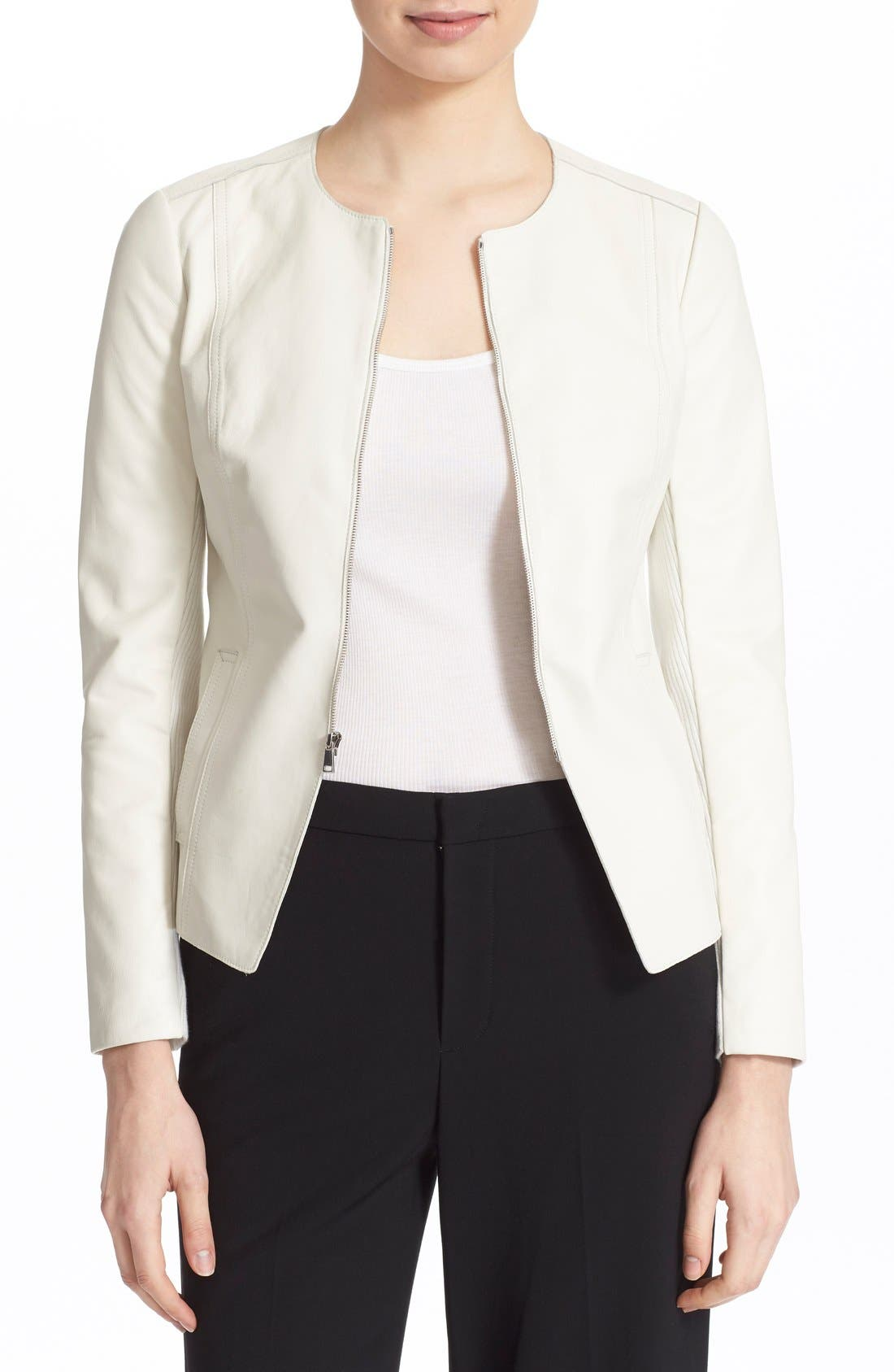 Alternate Image 1 Selected - Vince Tailored Leather Jacket