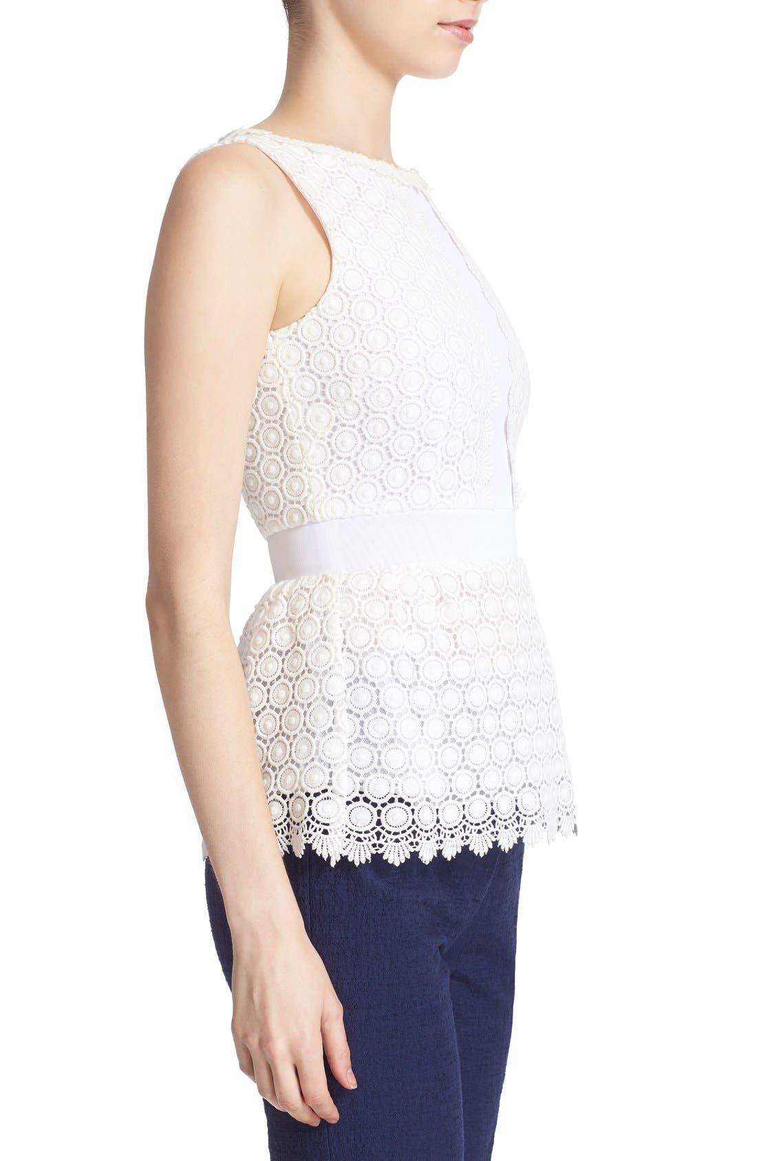 Alternate Image 3  - Diane von Furstenberg 'Tavita' Sleeveless Lace Top