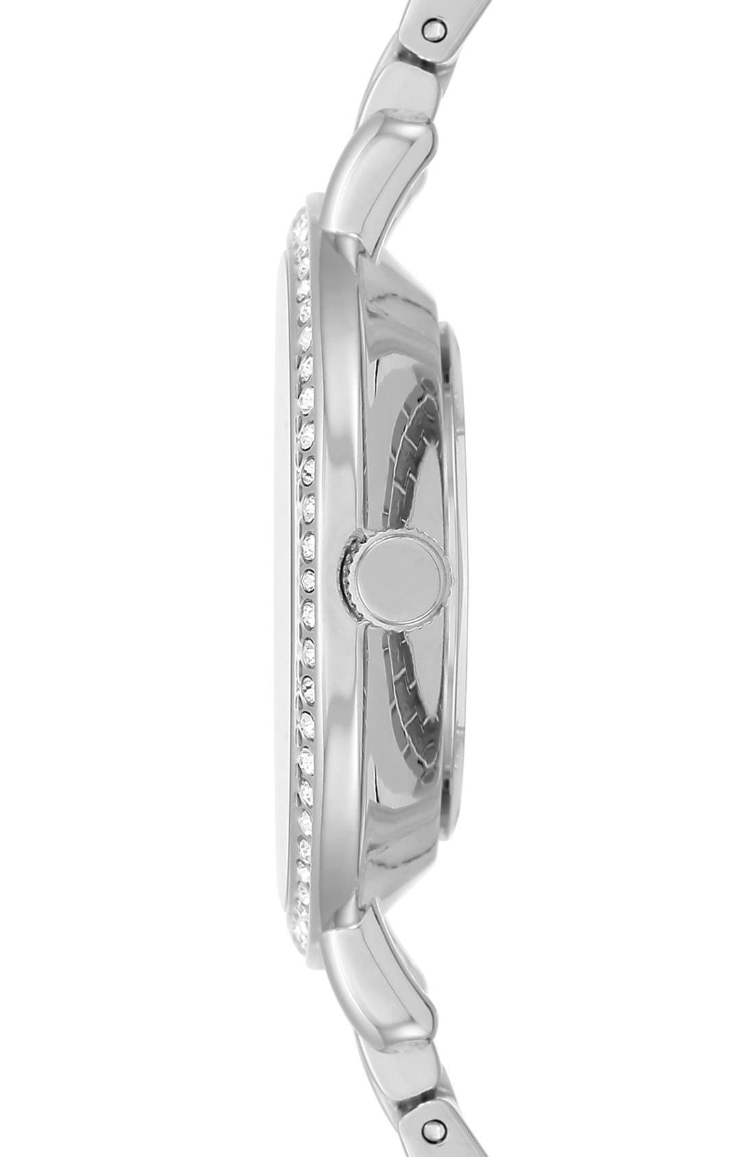 Round Bracelet Watch, 36mm,                             Alternate thumbnail 3, color,                             Silver