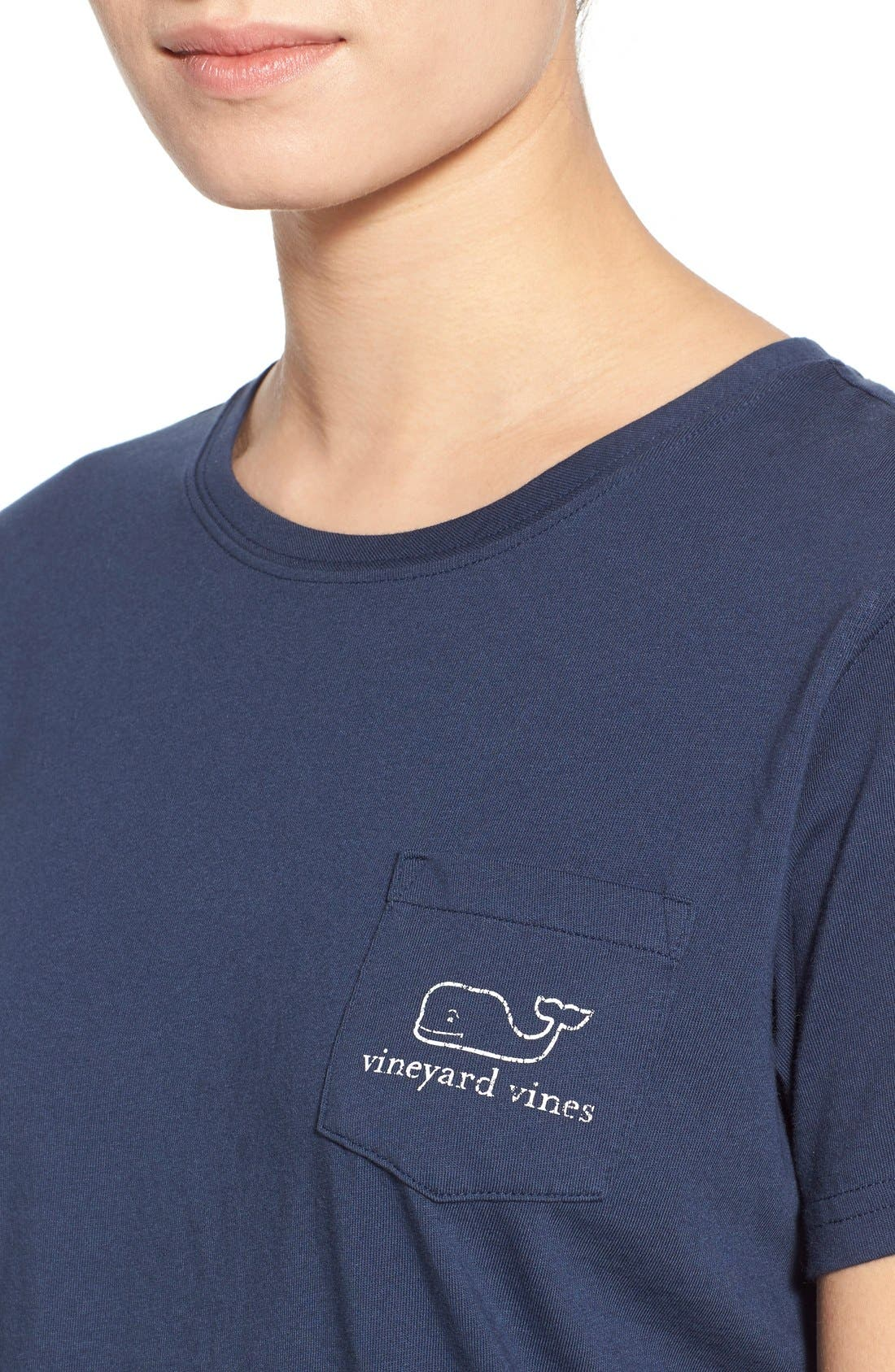 Whale Graphic Short Sleeve Pocket Tee,                             Alternate thumbnail 5, color,                             Blue Blaze