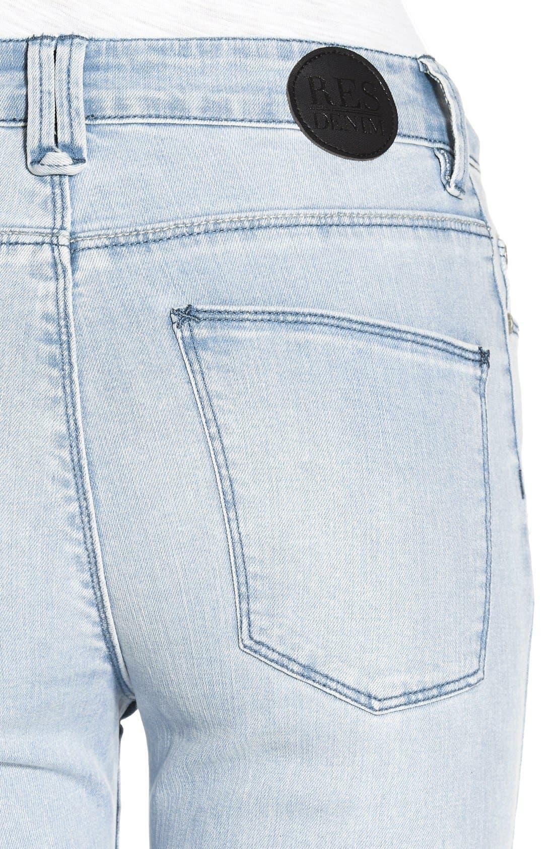 Alternate Image 4  - RES Denim 'Kitty' Skinny Jeans (Love Moves Destroyer)