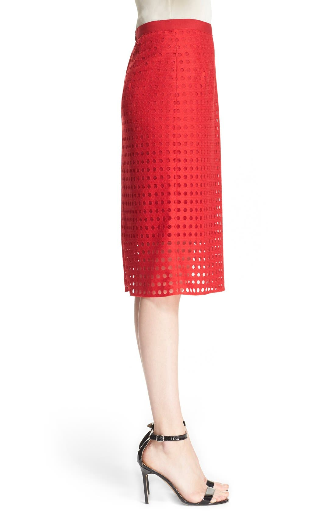 Alternate Image 5  - Akris punto Mesh Pencil Skirt