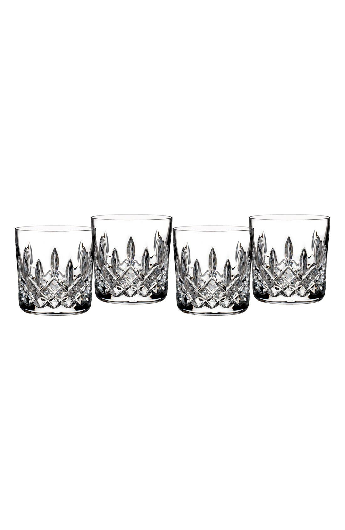 'Lismore' Lead Crystal Straight Sided Tumblers,                             Main thumbnail 1, color,                             Clear