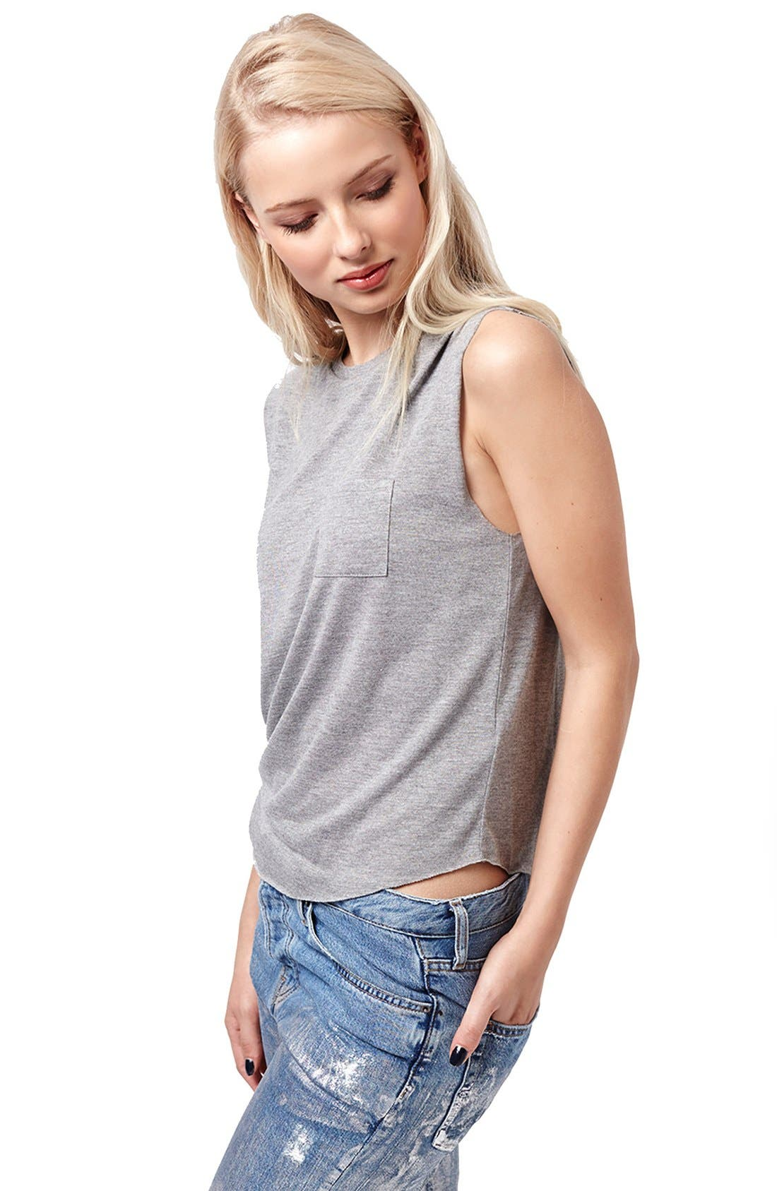 Alternate Image 4  - Topshop Relaxed Fit Pocket Tank