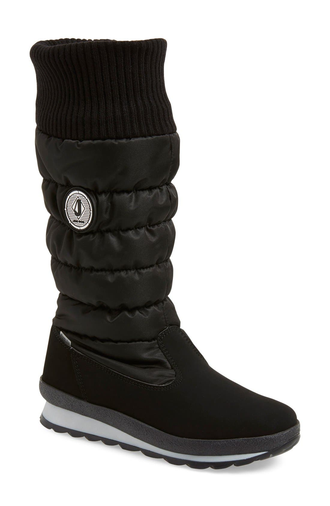 St. Anton Waterproof Winter Boot,                             Main thumbnail 1, color,                             Black