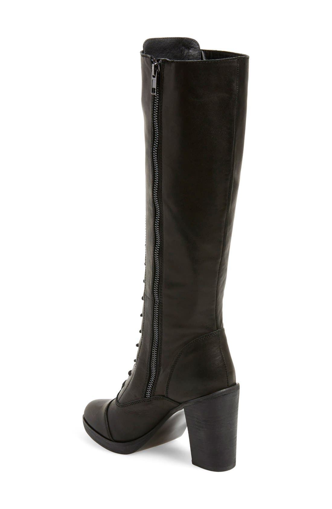 Alternate Image 2  - Steve Madden 'Nidea' Lace-Up Knee High Boot (Women)