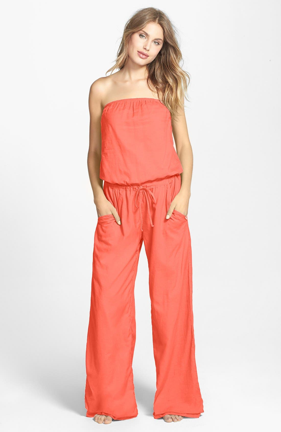 Alternate Image 1 Selected - Hard Tail Strapless Jumpsuit