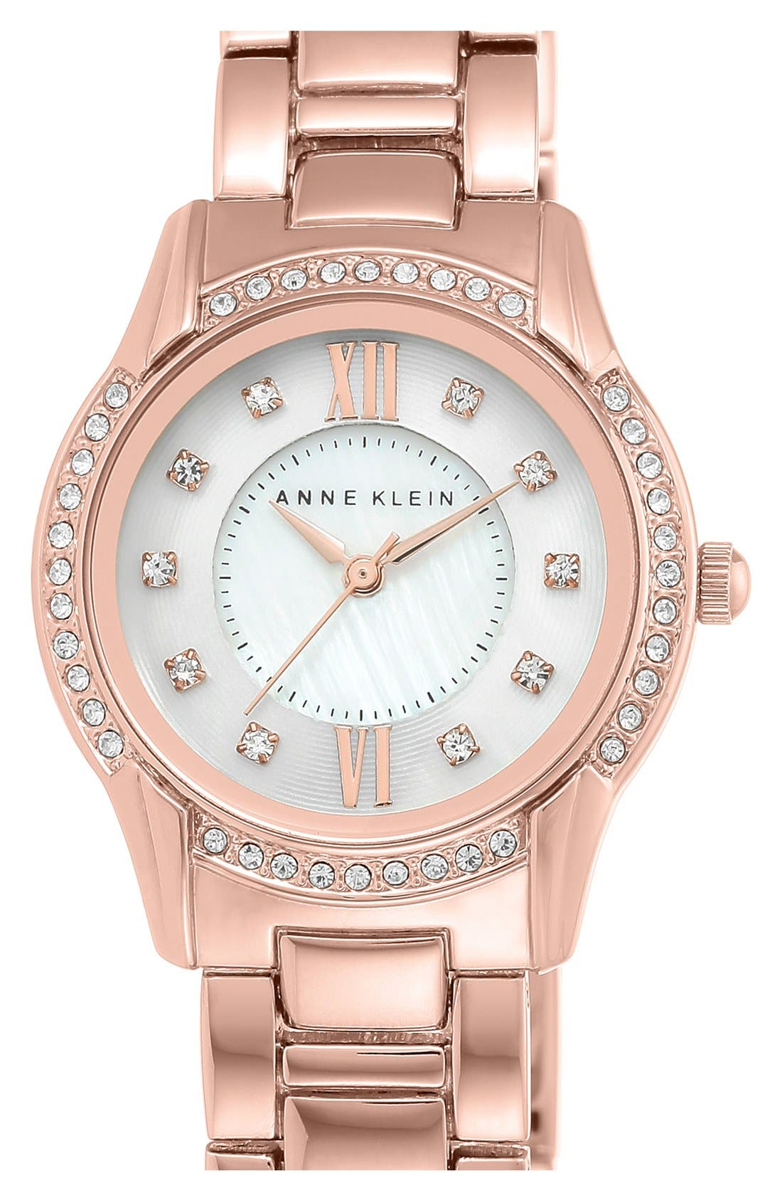 Alternate Image 1 Selected - Anne Klein Round Bracelet Watch, 28mm