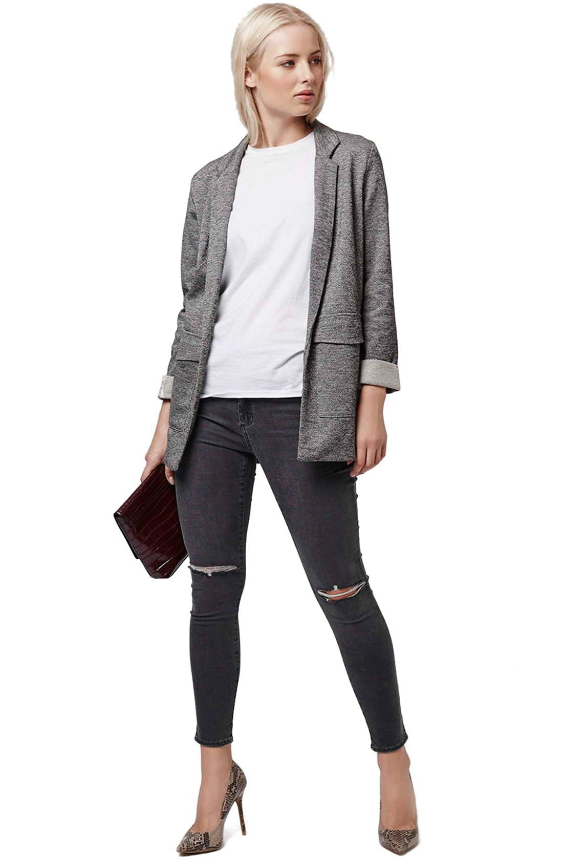 Alternate Image 2  - Topshop Twill Jersey Boyfriend Jacket