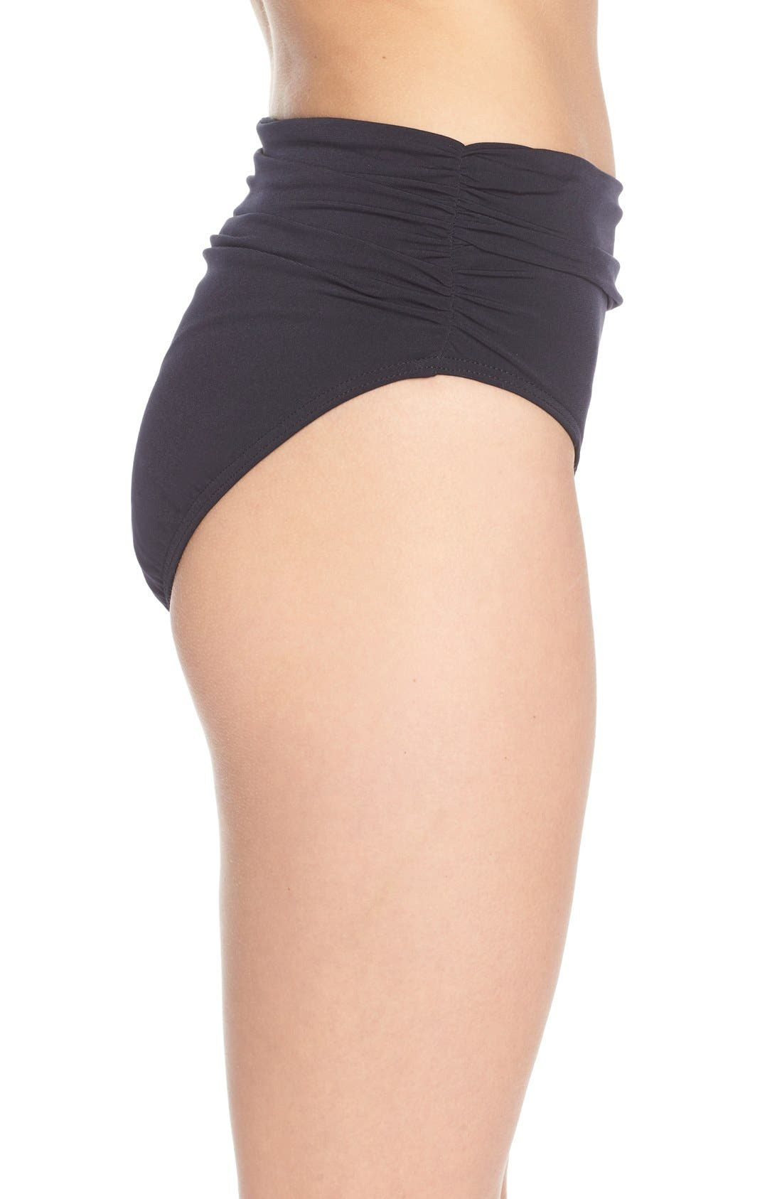Alternate Image 3  - Magicsuit® Ruched Bikini Bottoms