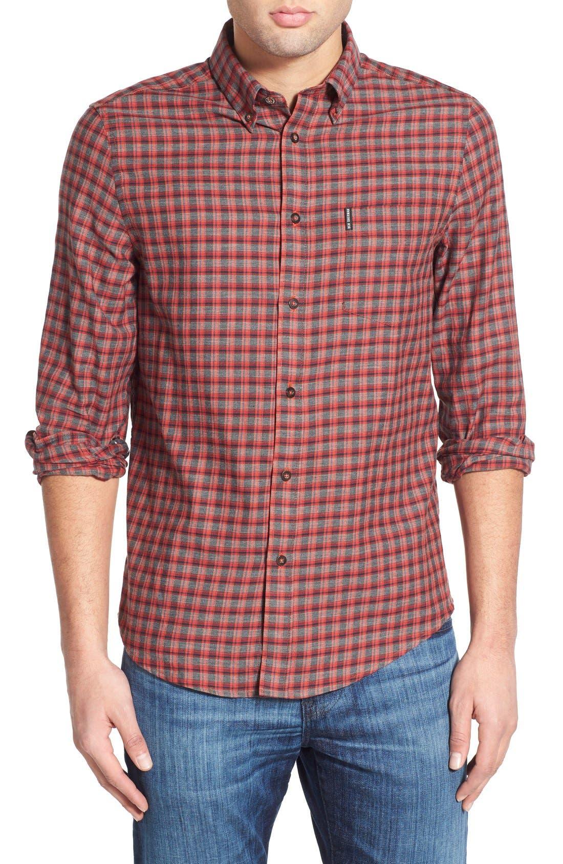 Alternate Image 1 Selected - Ben Sherman Mod Fit Tartan Plaid Sport Shirt