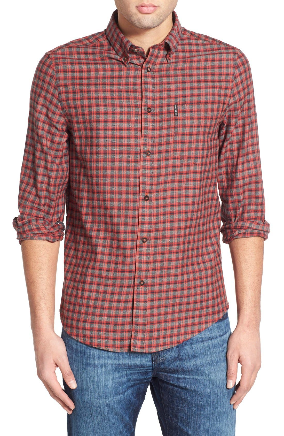 Main Image - Ben Sherman Mod Fit Tartan Plaid Sport Shirt
