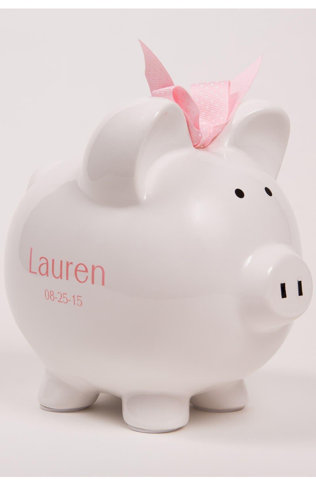 Personalized Piggy Bank,                             Alternate thumbnail 2, color,                             White