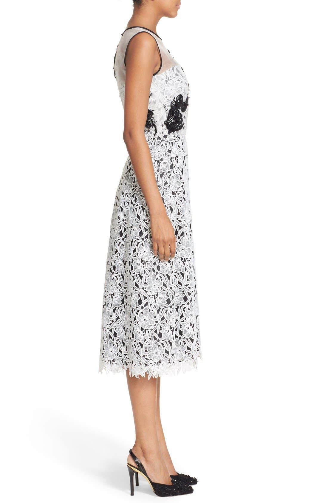 Alternate Image 5  - Oscar de la Renta Embellished Floral Lace Dress