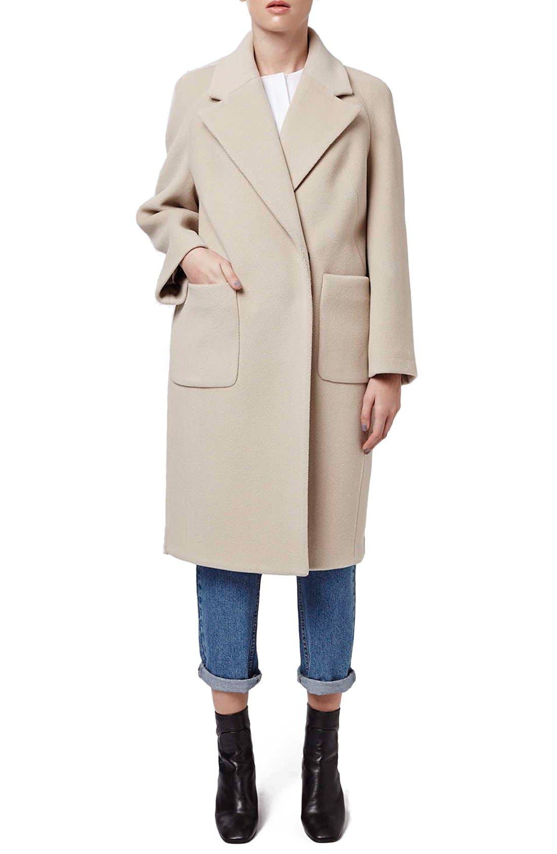Alternate Image 2  - Topshop Boutique Longline Wool Coat