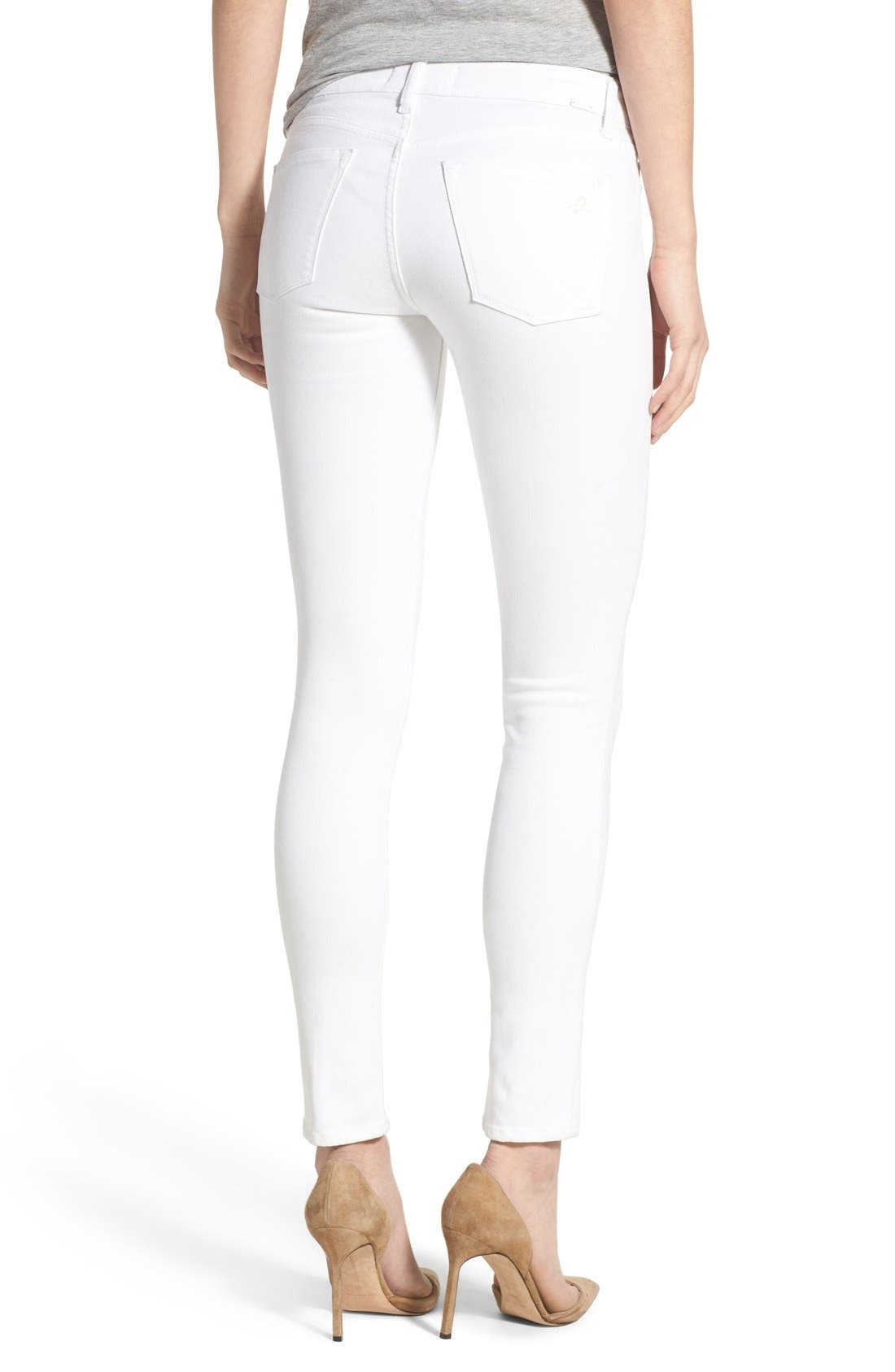 'Emma' Power Legging Jeans,                             Alternate thumbnail 2, color,                             Porcelain